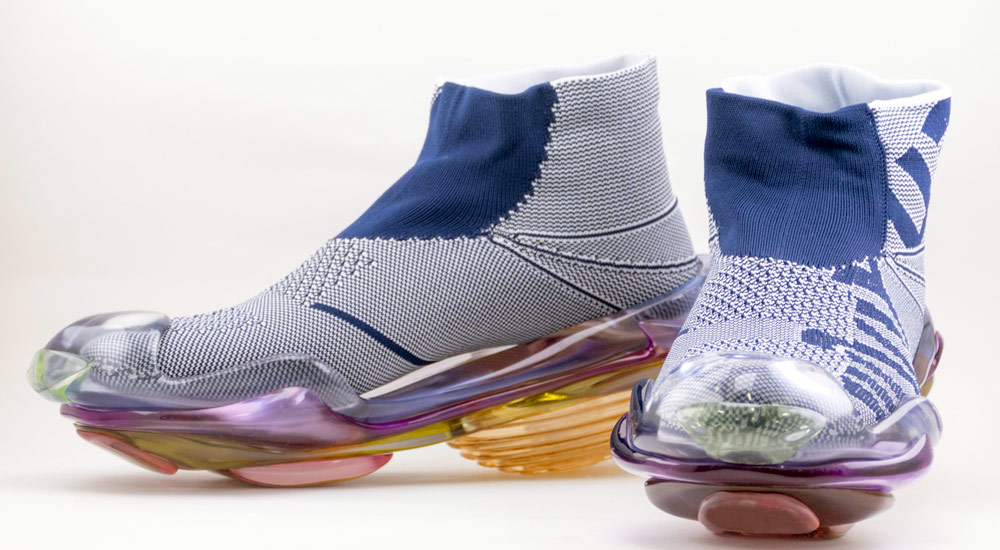 Mikio Sakabe's 3D Printed Shoes - Giddy up blue shoes