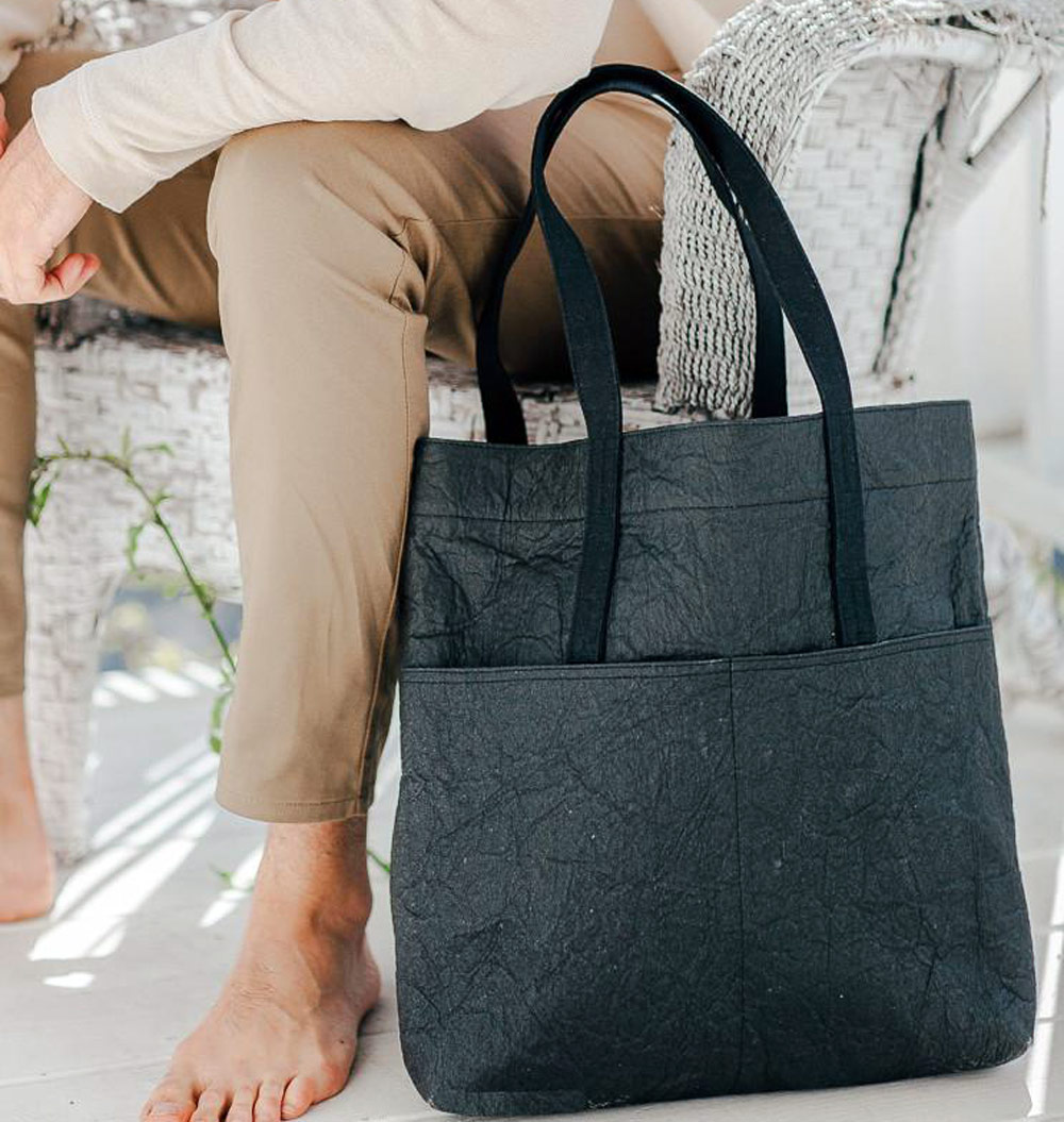 Best Vegan Bags - Maniwala Bayan Pinatex Tote Bag (style)