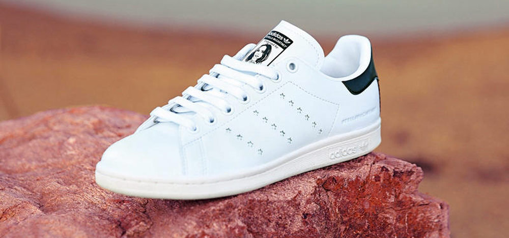 Vegan Adidas Stan Smith trainers by Stella McCartney - side