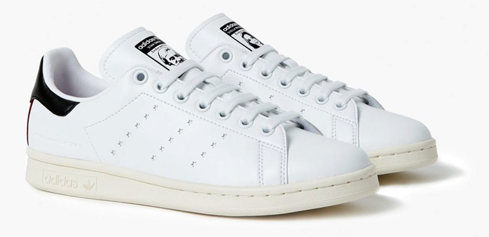 Vegan Adidas Stan Smith trainers by Stella McCartney - A pair of vegan trainers