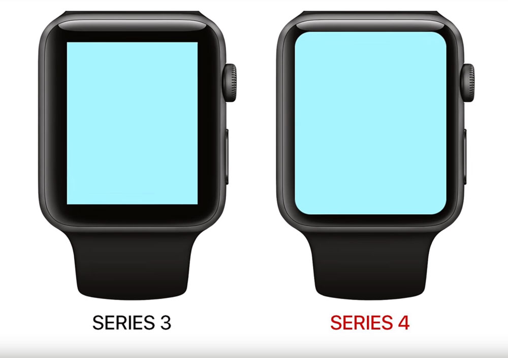Apple Watch Series 4 comparison with apple watch series 3