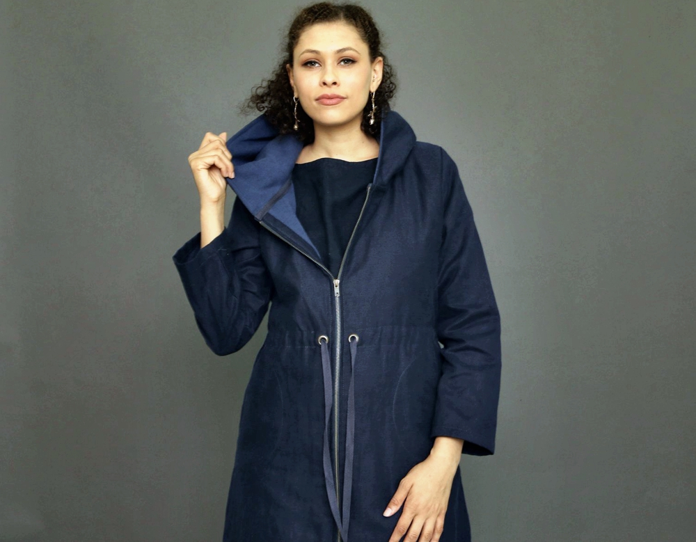 Eco-Friendly Autumn Jackets For Women - The Eclipse Parka blue