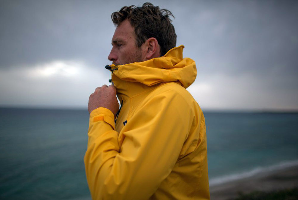 Changing The Face Of Sustainable Fashion - Finisterre yellow jacket