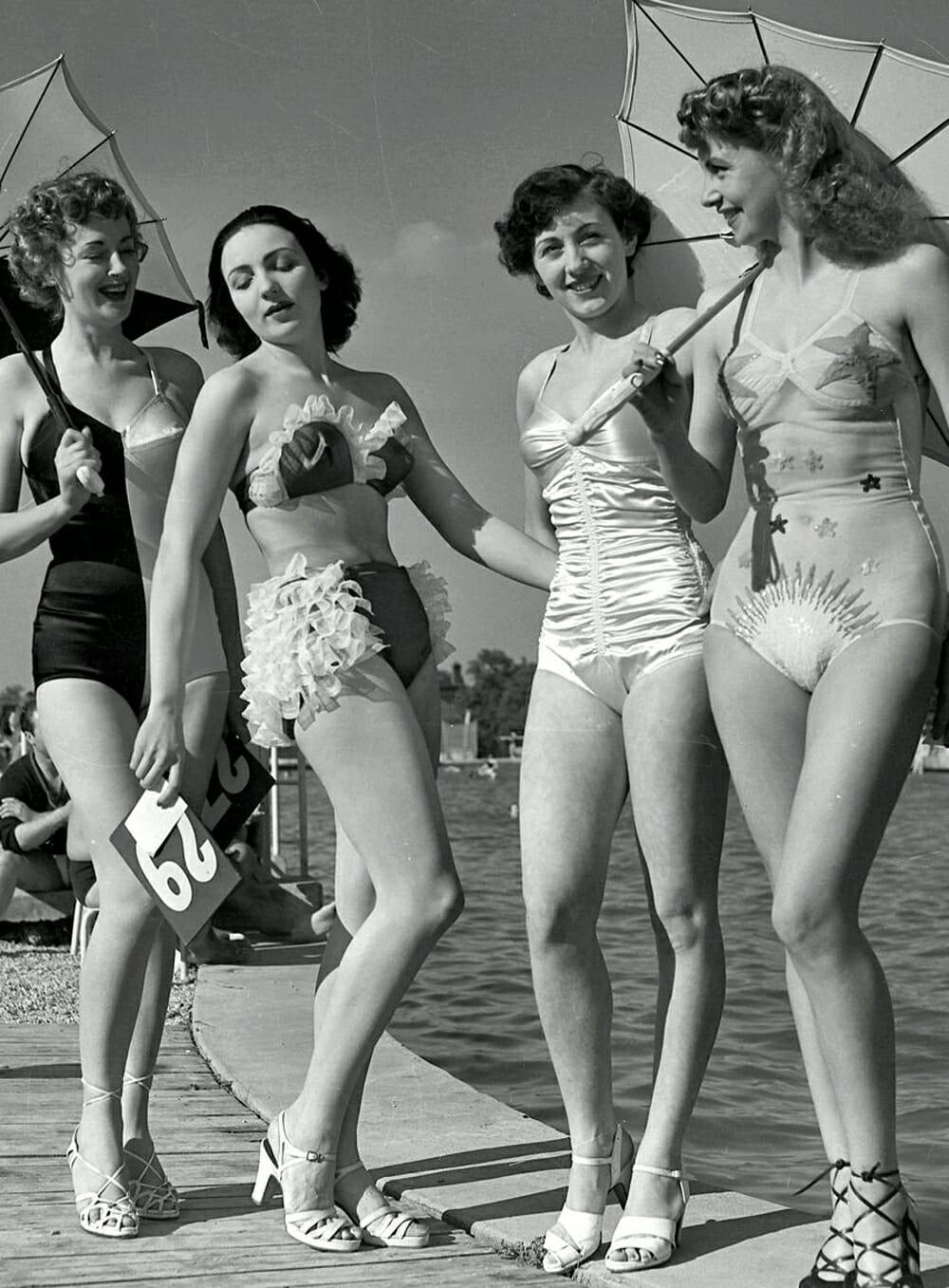 Evolution Of Swimwear - 1940s vintage style