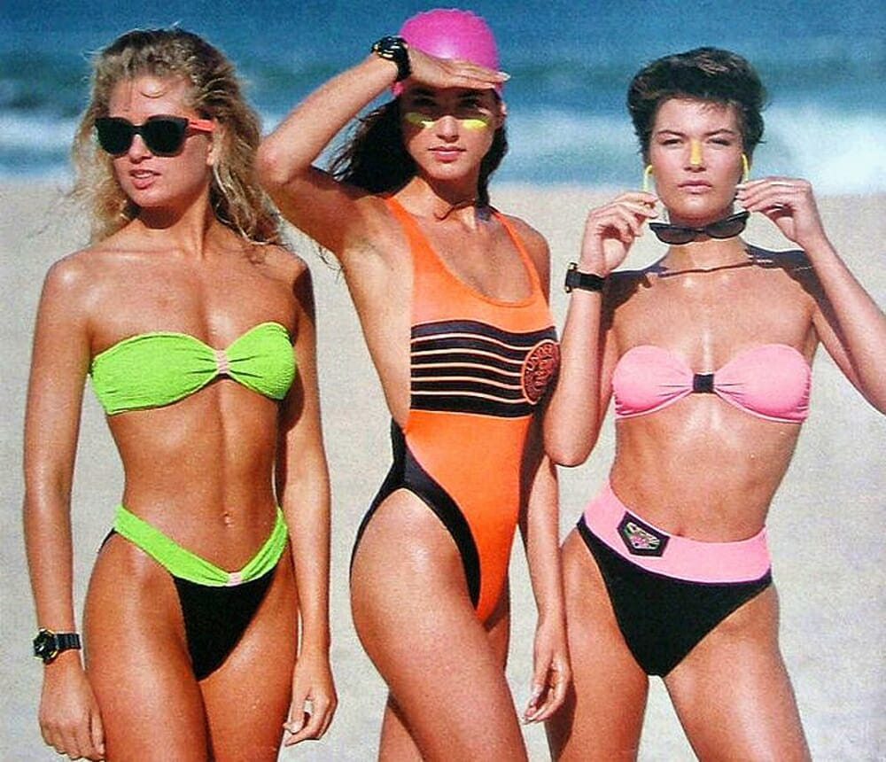 Evolution Of Swimwear - 1980s style