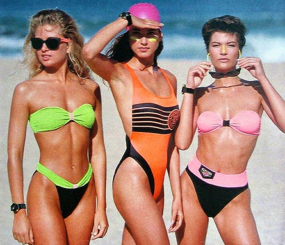 Evolution Of Swimwear - 1980s style