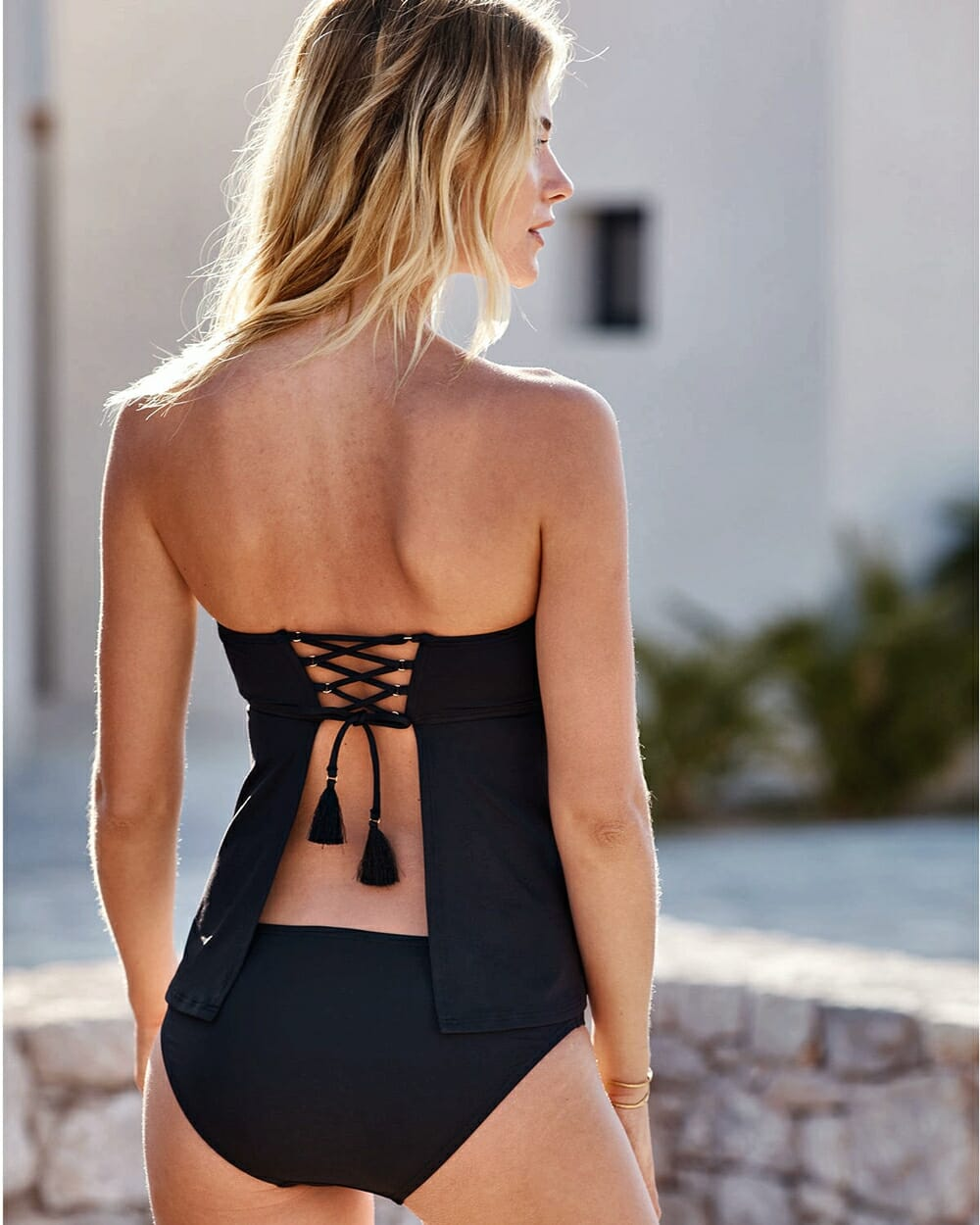 Evolution Of Swimwear - Tankini 1990s back