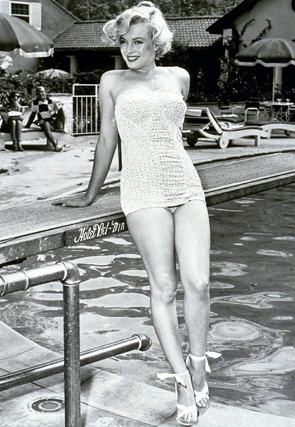 Evolution Of Swimwear - Marilyn Monroe white swimwear