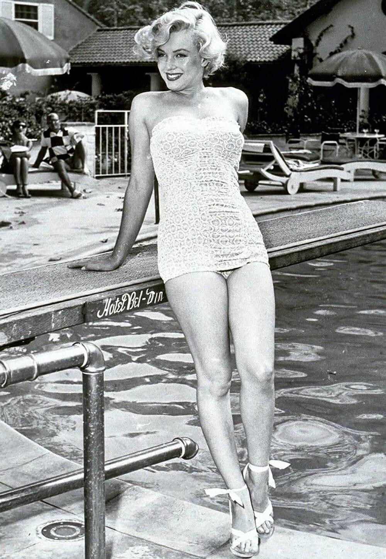 Evolution Of Swimwear - Marilyn Monroe white swimwear