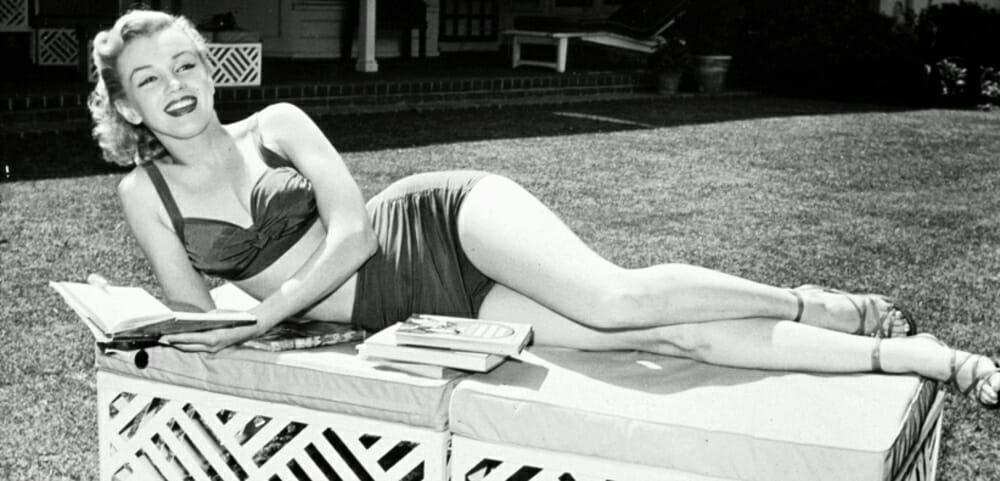 Evolution Of Swimwear - Marilyn Monroe black swimwear