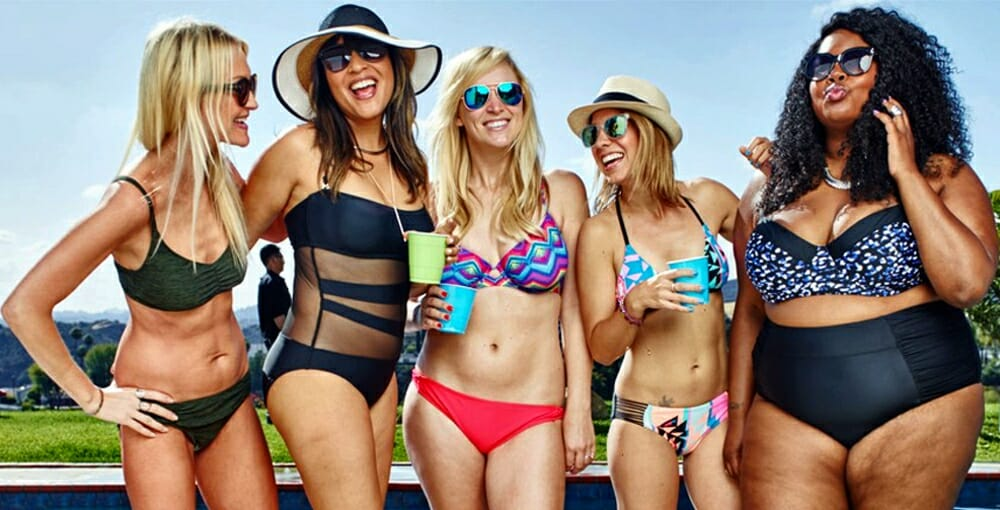 Evolution Of Swimwear - diversity in swimwear