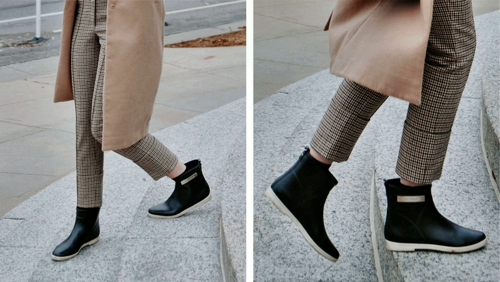 Vegan Boots For Winter - Alice+Whittles minimalist black + white ankle boot