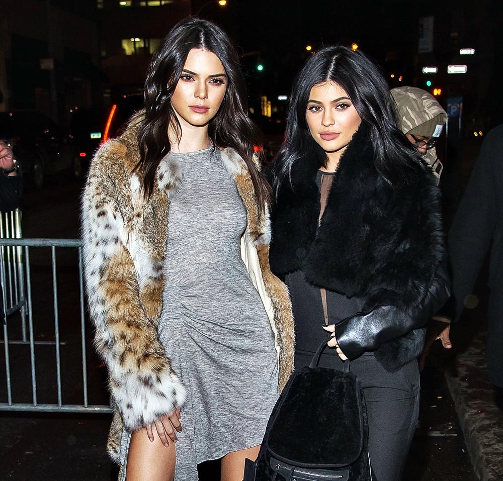 Kardashians Fashion - Kardashian sisters wearing fur