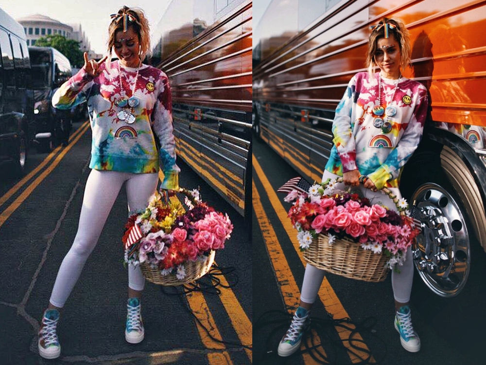 Miley Cyrus Converse Pride Collections - Miley