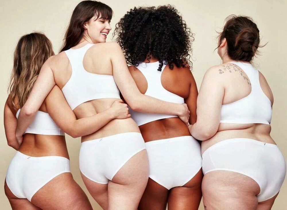 Period Panties - diverse women wearing white hygienic panties