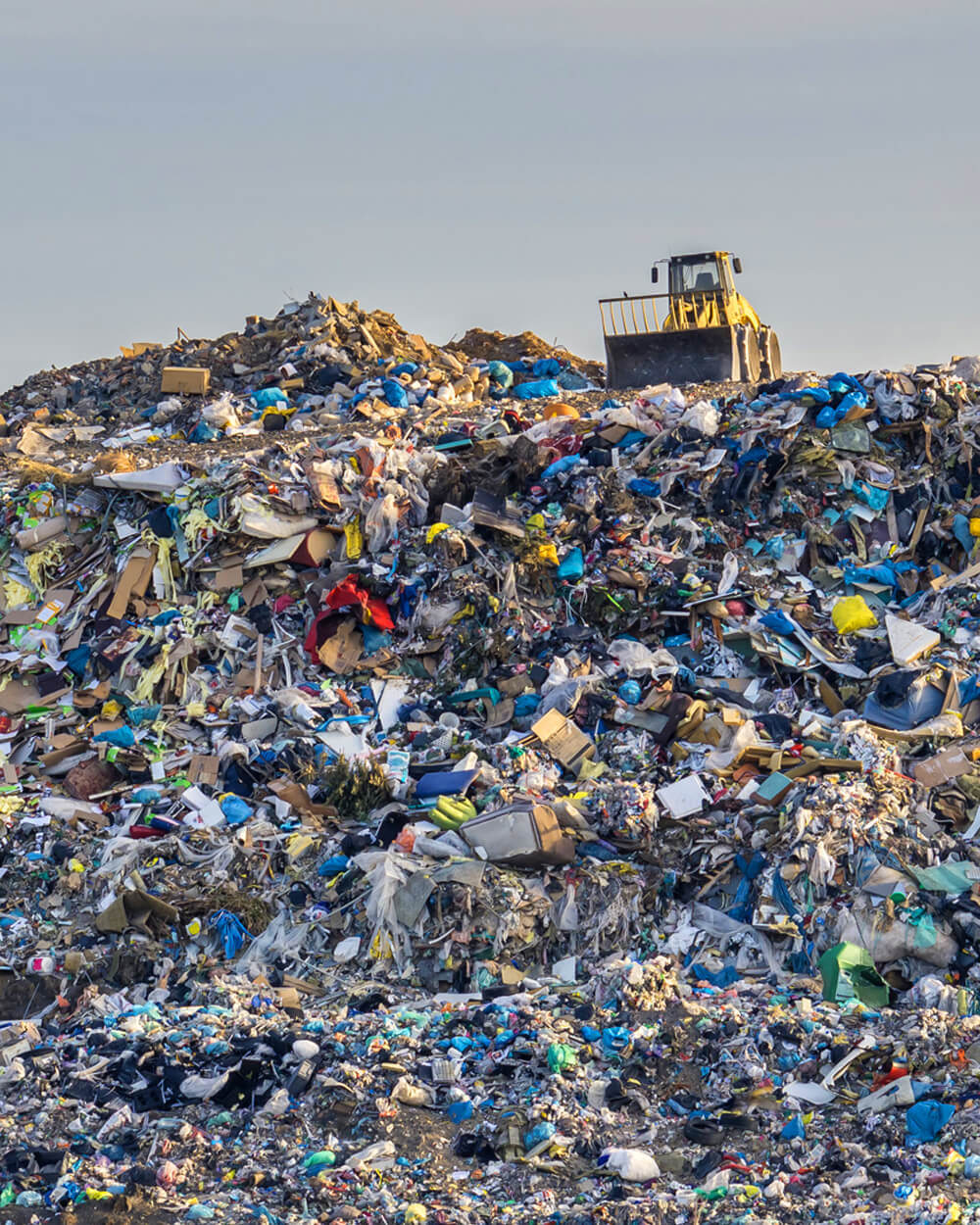 fast fashion textile waste in landfill