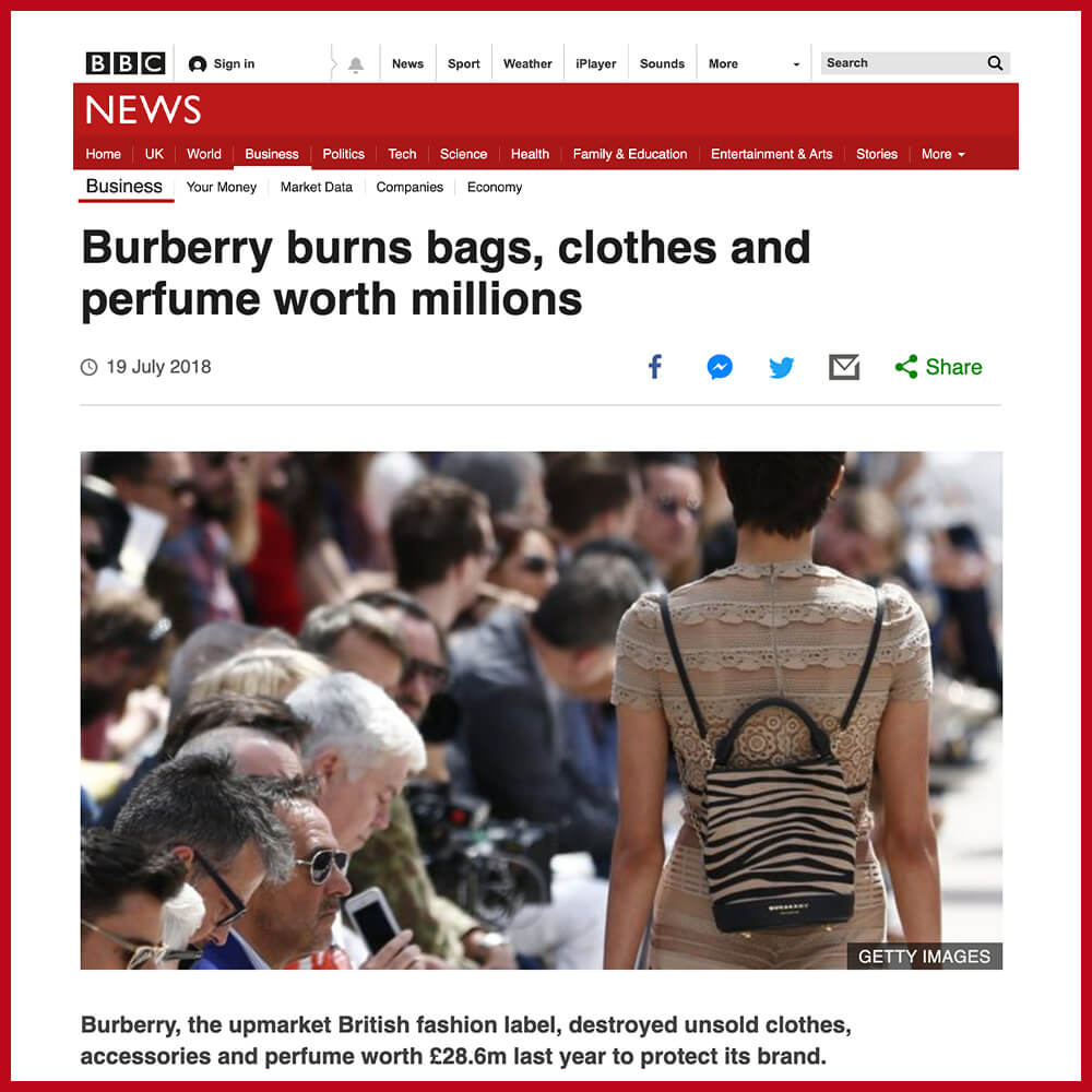 Burberry burning old stock worth millions