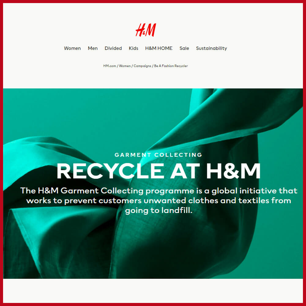 h&m recycling programme