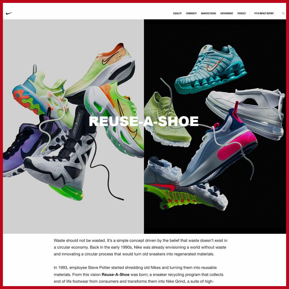 Nike Reuse-A-Shoe programme
