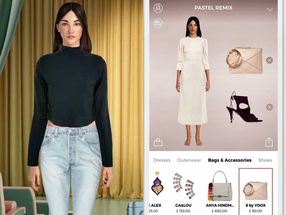 Yoox avatars in fashion