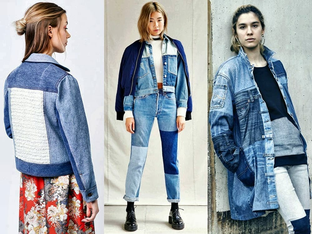 Sustainable fashion with recycled denim style