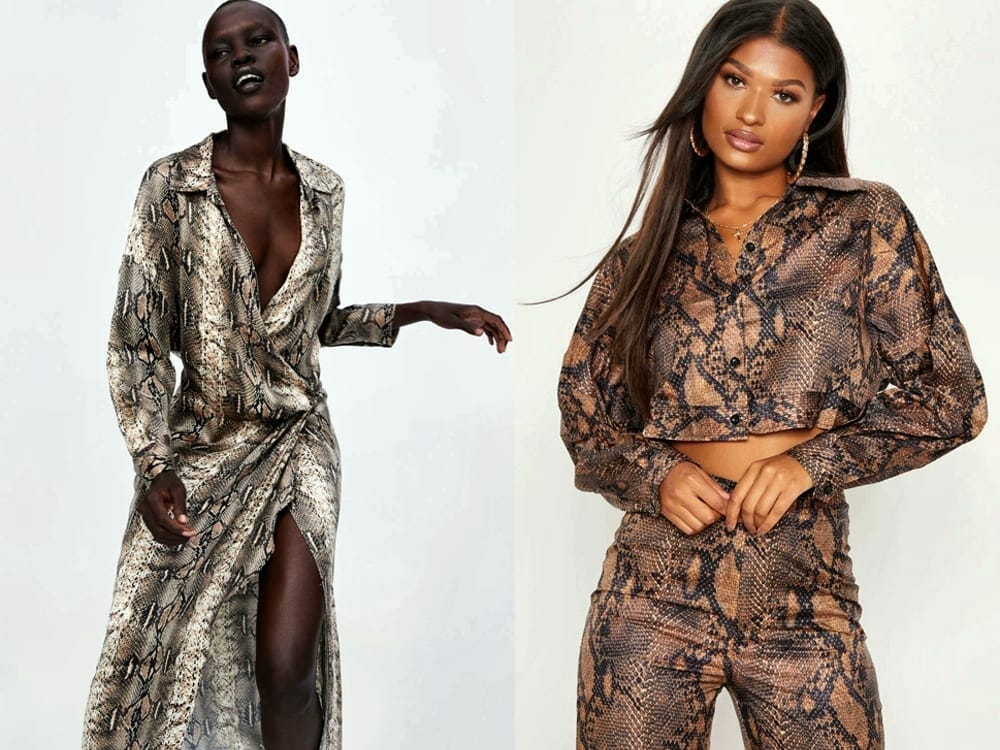Snake Skin Printed Fashion