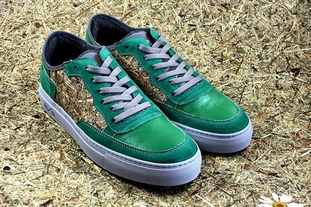 green nat-2 vegan sneakers