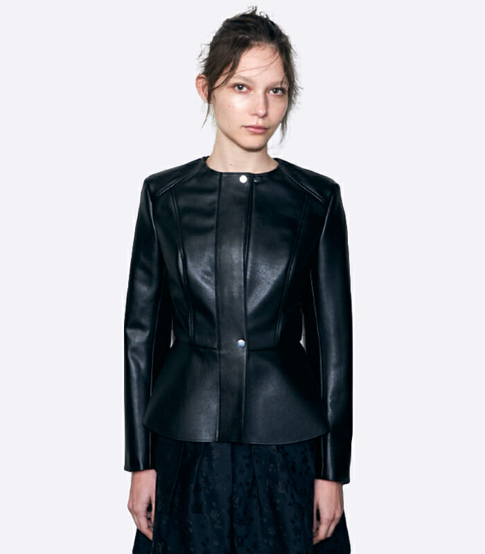 Hiraeth Edith Fitted Vegan Leather Jacket