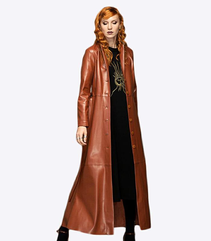 Julia Allert vegan leather coat