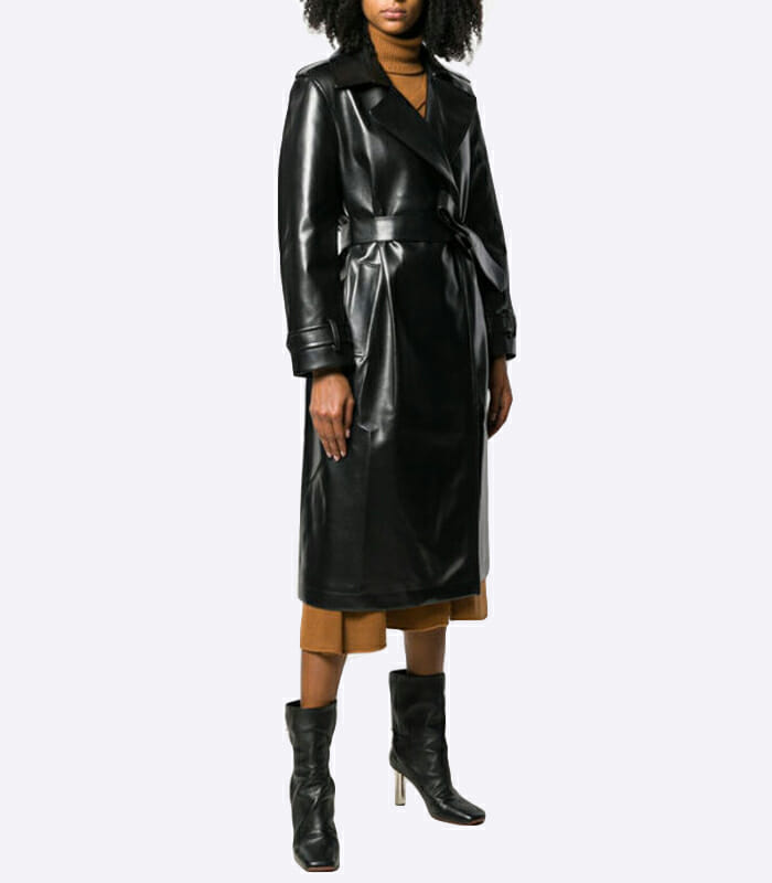 Vegan Leather Trench Coat – Each X Other