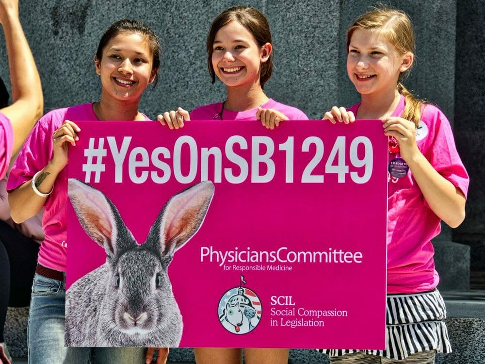 The SB 1249 Act to make all cosmetic products cruelty free