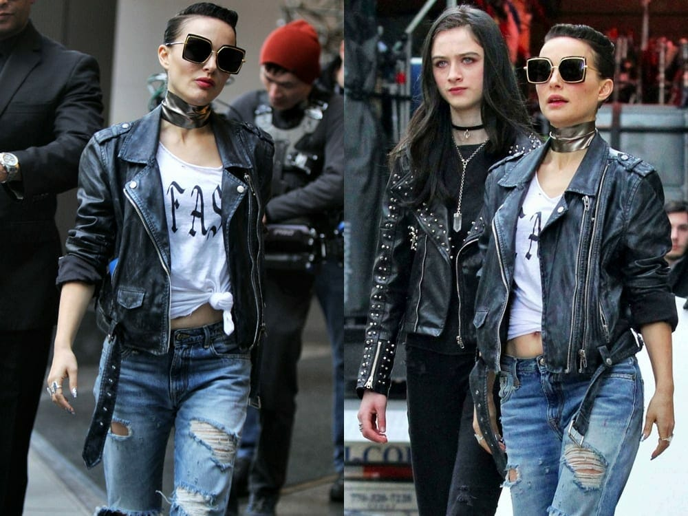 Natalie Portman Vegan Leather Jacket in Vox Lux