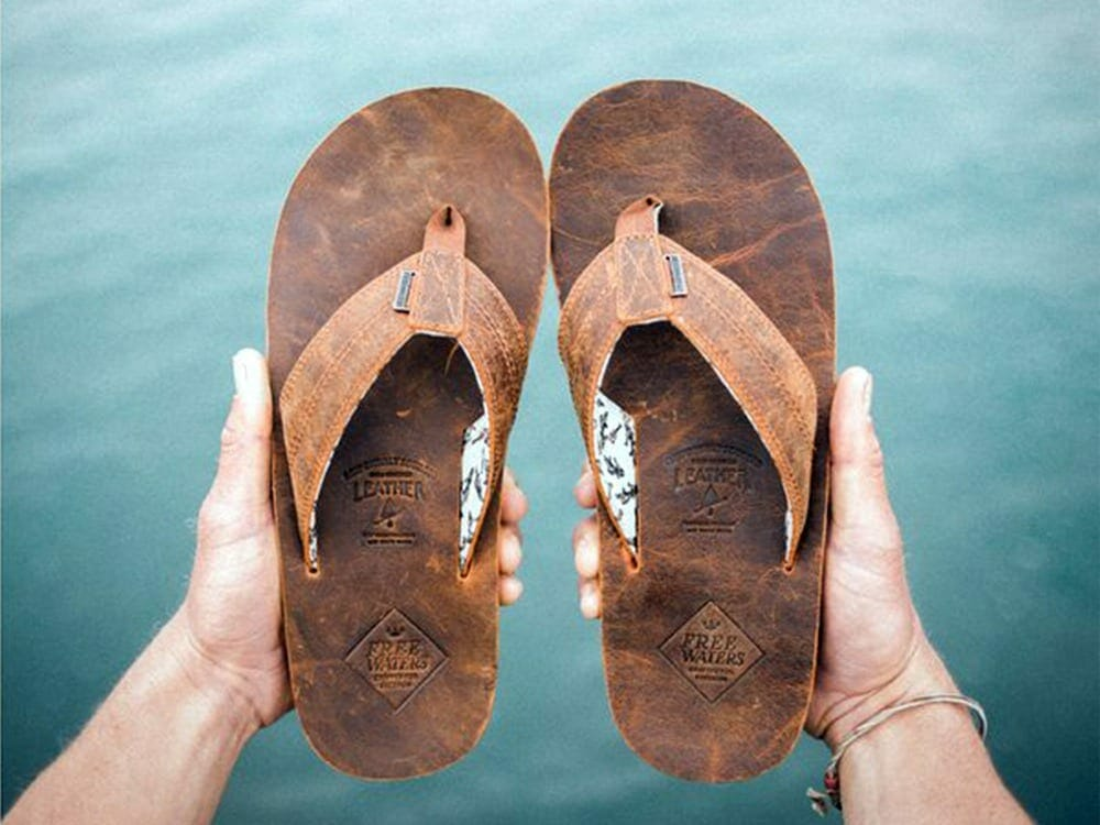 Freewaters animal leather sandals