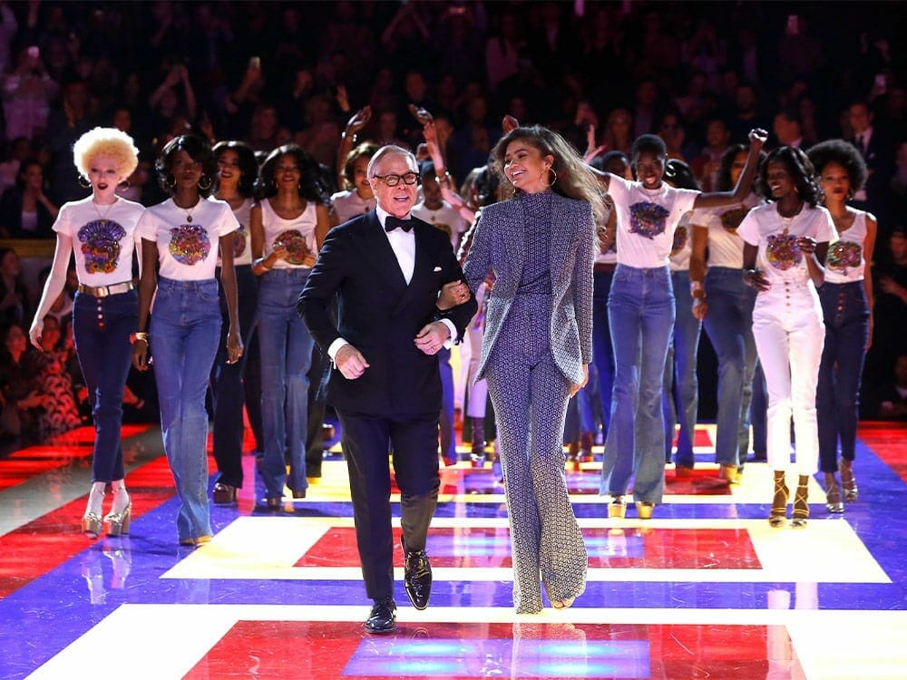Tommy Hilfiger and Zendaya at Paris Fashion Week