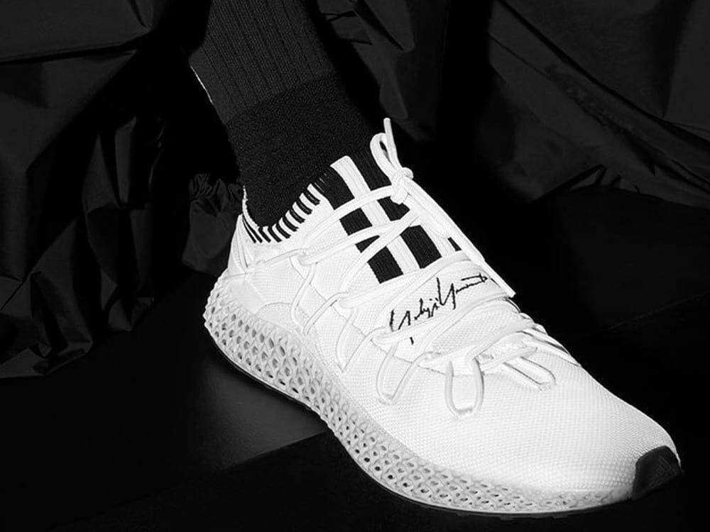 Y-3 RUNNER 4D II 3d printed shoes by Adidas with collaboration with Yohji Yamamoto