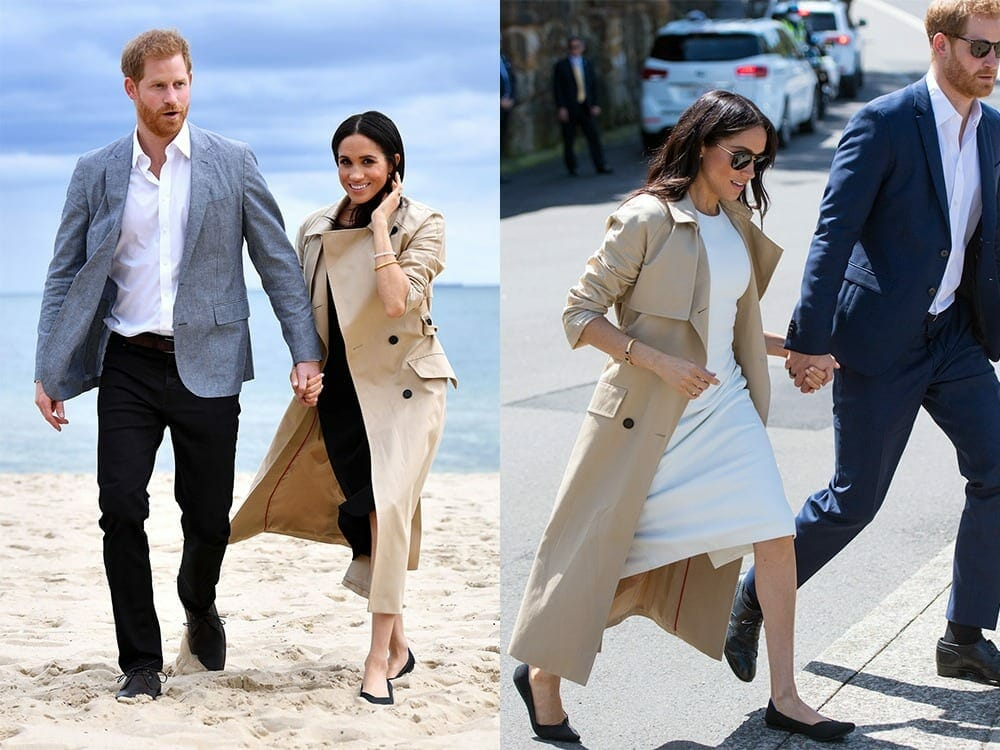 Meghan Markle wearing Rothy's sustainable flats