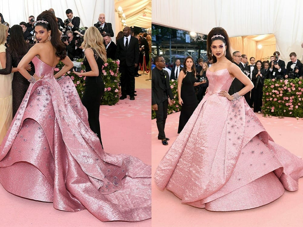 Deepika Padukone 3d printed dress at Met Gala 2019