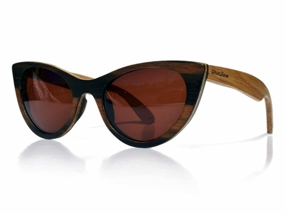 Moat House Godiva wooden sunglasses