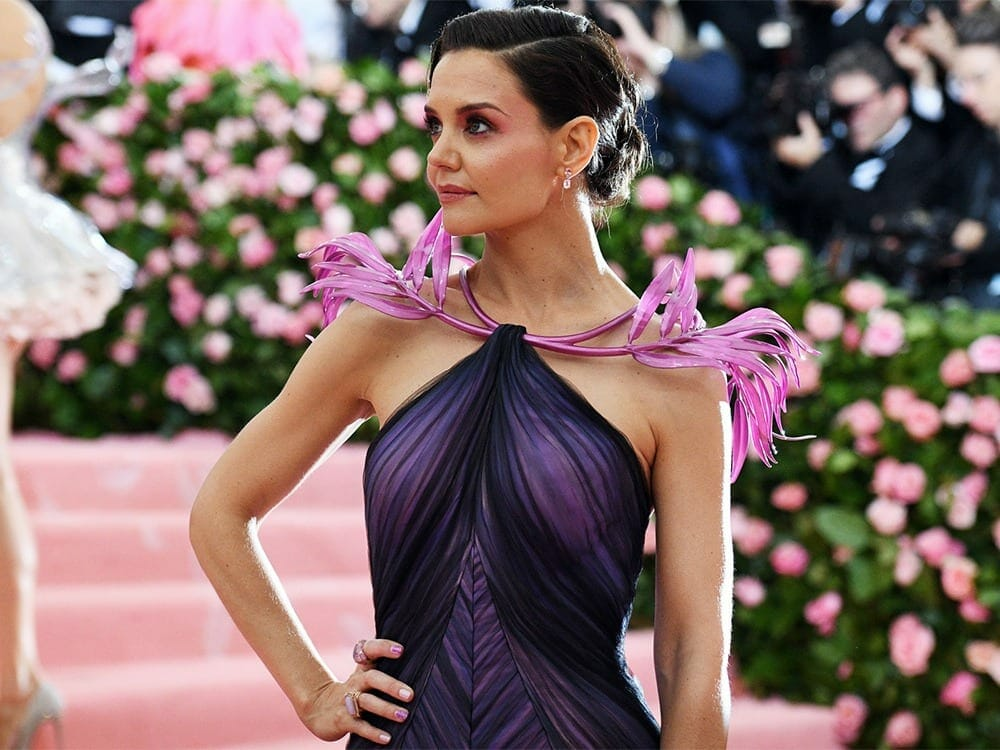 Katie Holmes 3d printed neckless at Met Gala 2019