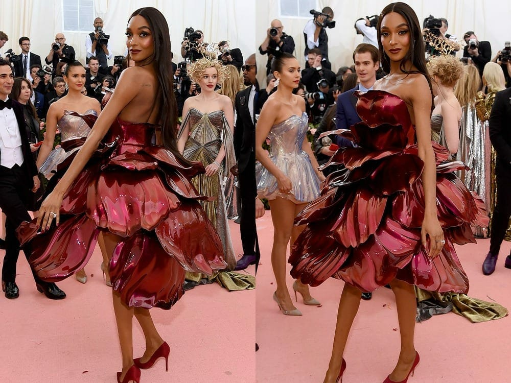 Jourdan Dunn 3d printed dress at Met Gala 2019