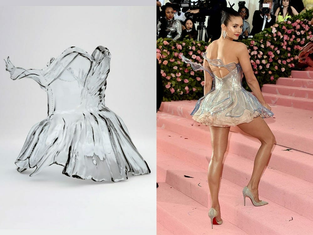 Nina Dobrev 3d printed dress at Met Gala 2019