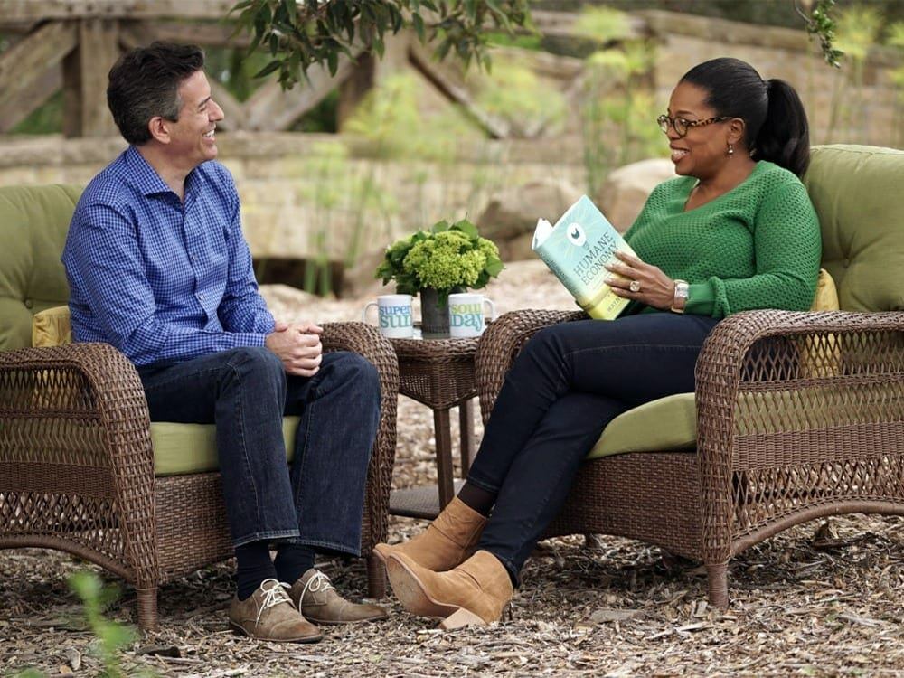 Oprah Winfrey and Wayne Pacelle on veganism