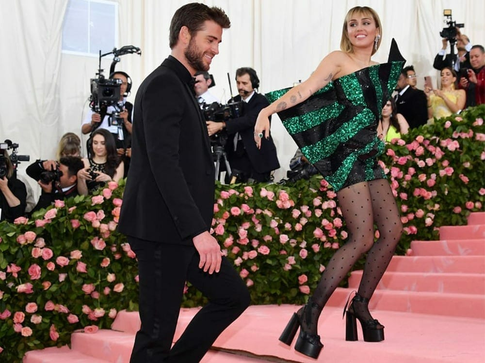 Miley Cyrus and Liam Hemsworth at Met Gala 2019 Wearing vegan outfits