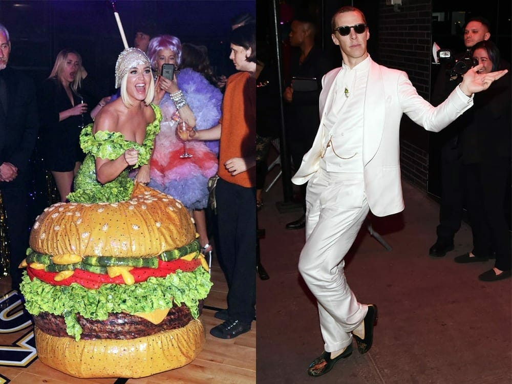 Benedict Cumberbatch and Katy Perry wearing vegan outfit at Met Gala