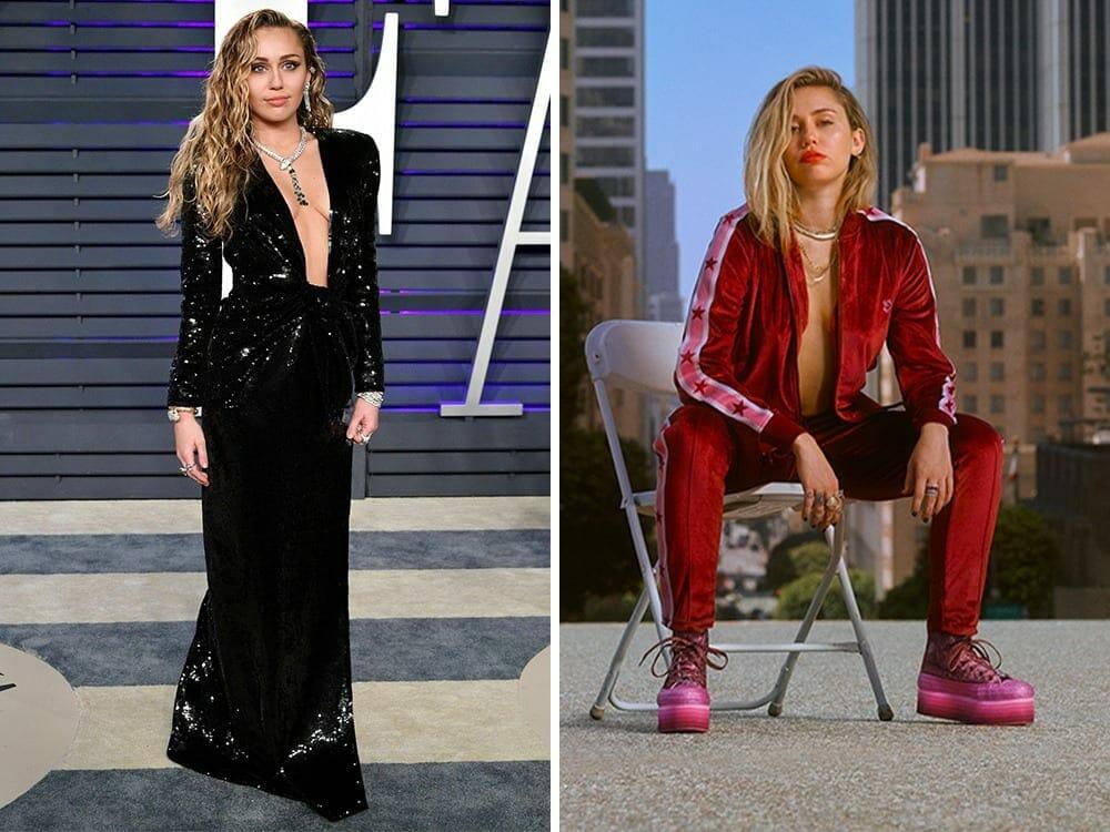 Miley Cyrus green fashion choice