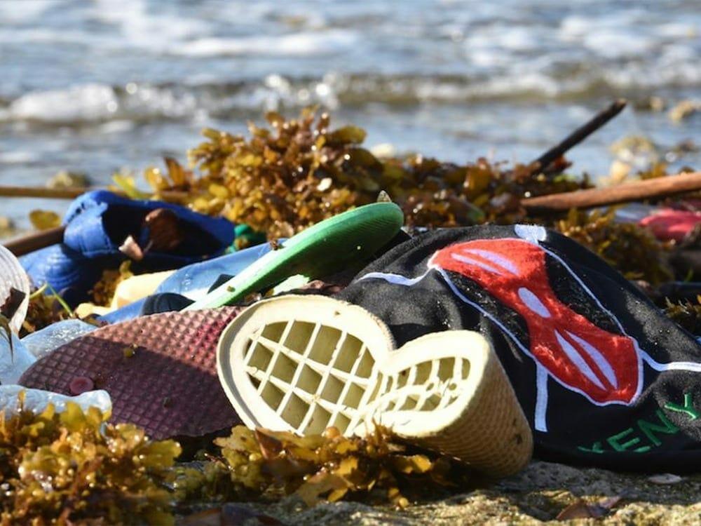 Fashion waste polluting the ocean