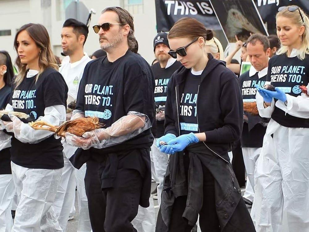 Rooney Mara and Joaquin Phoenix vegan activists