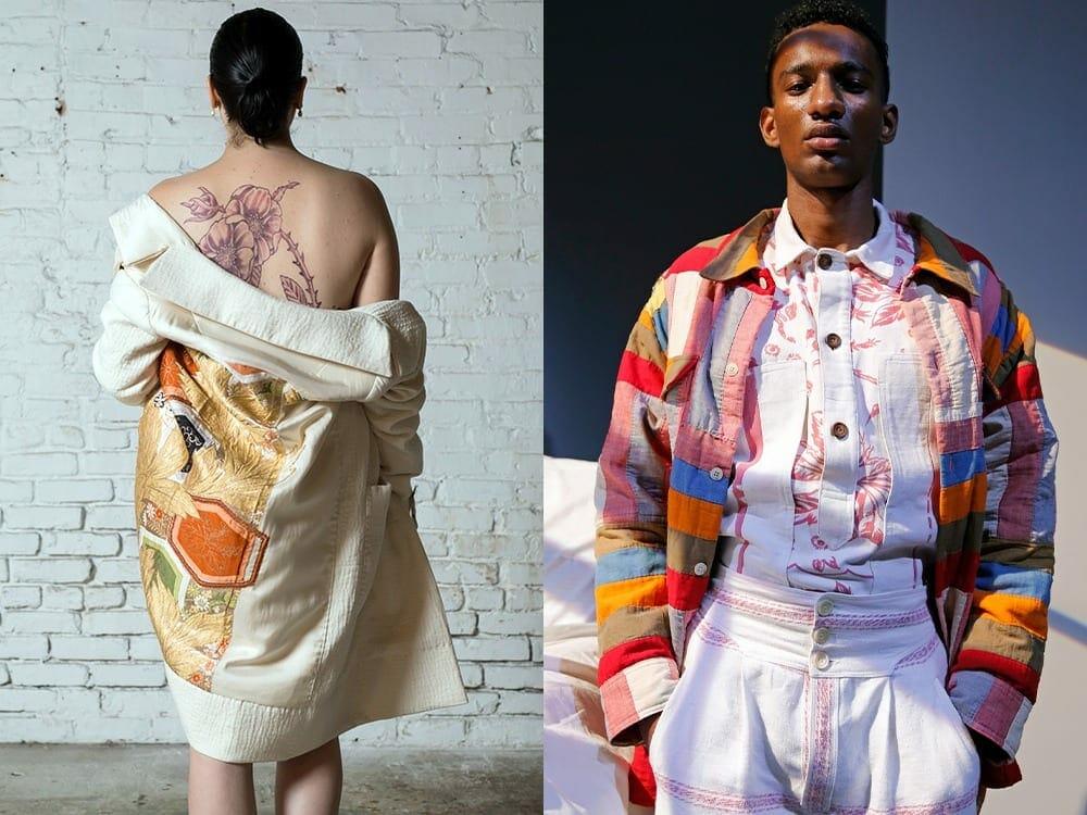 Upcycled luxury fashion