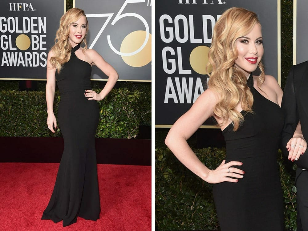 Tara Lipinski sustainable fashion on the red carpet golden globe awards 2018