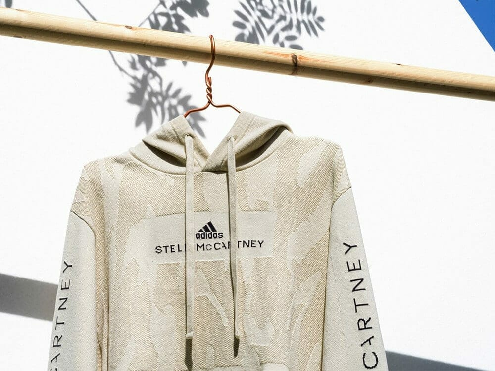 Adidas by Stella McCartney first hoodie created from garment waste